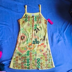 Xhilaration Girls Sequined Sundress L New